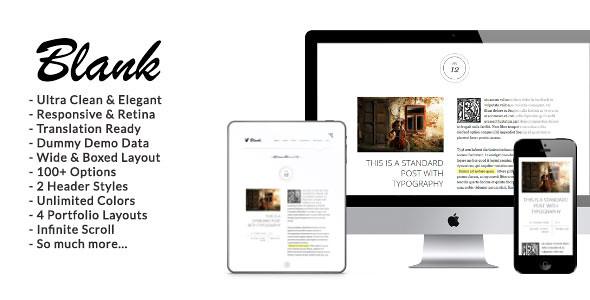 Blank - Elegant Minimalist WordPress Blog Theme v1.9.1