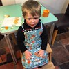 My travelling companion, the new sous chef with the foxy apron.