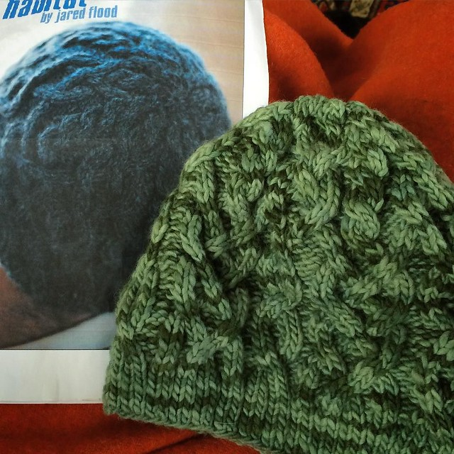 Hat number three of the year! Love Habitat, the pattern from @brooklyntweed.