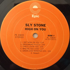 SLY STONE:HIGH ON YOU(LABEL SIDE-A)
