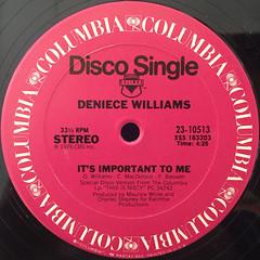 DENIECE WILLIAMS:FREE(LABEL SIDE-B)