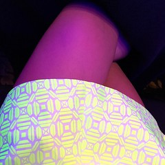 Wow! This skirt really does #glowinthedark
