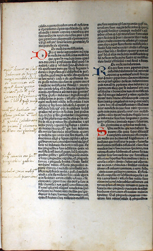 Held by the Royal College of Physicians and Surgeons of Glasgow. Annotations and initials in Serapion, Johannes, the Younger [pseudo-]: Liber Serapionis aggregatus in medicinis simplicibus.