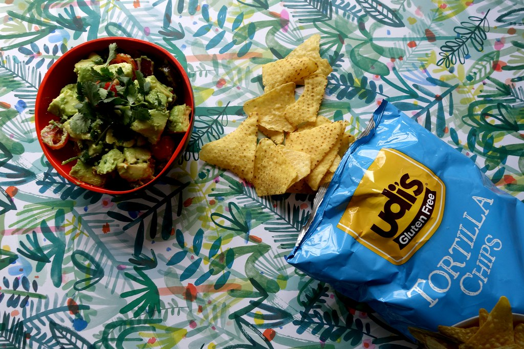 Guacamole Islandbell and Udi's Gluten Free Tortilla Chips
