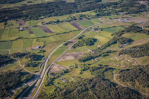 sverige v45 swe västragötaland 600m flygfoto älvängen alvhem kattleberg