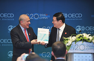 Angel Gurría, Secretary-General of the OECD, in Shanghai, China, launching Going For Growth report.