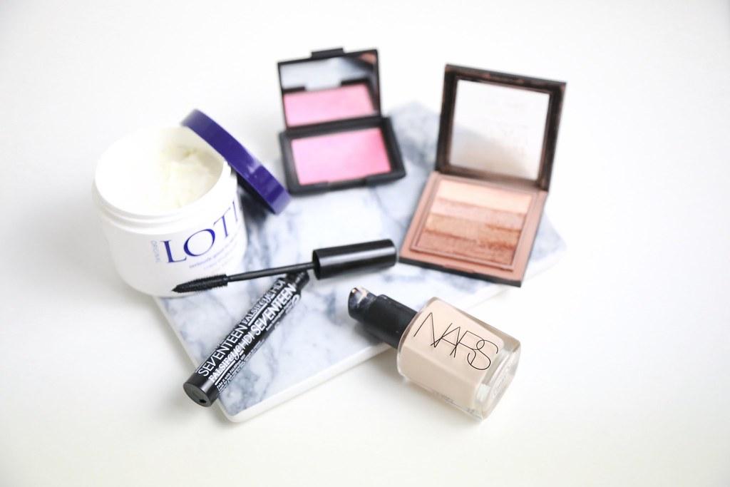 seventeencosmetics, makeup, HDmascara, narssheerglow,