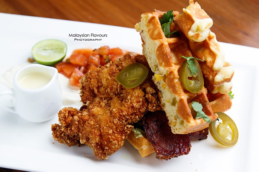 Chequers Cafe TTDI KL mexican fried chicken waffle