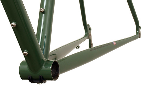 Gunnar Grand Tour in Monetary Decals with Panda Panels - Chainstay Detail | by Gunnar Cycles