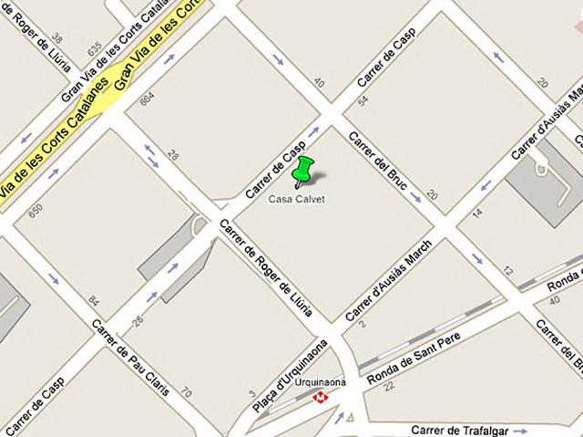 Localização Casa Calvet
