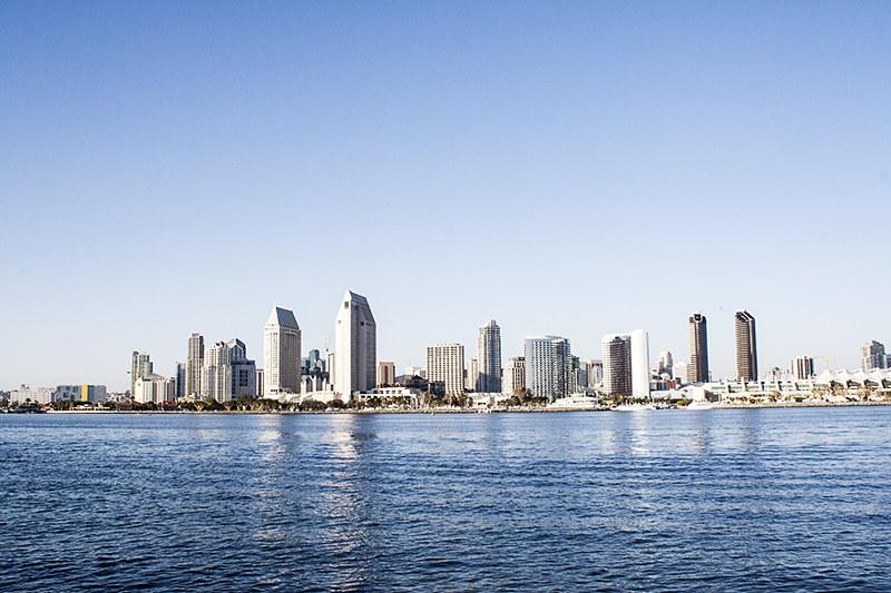 San Diego Skyline, Coronado Island, Coronado Beach