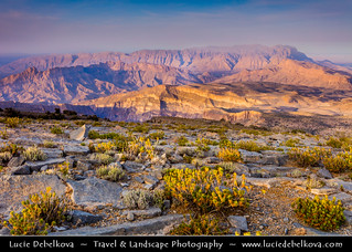 Oman - Hajar Mountains - View from Jebel Shams at Sunrise
