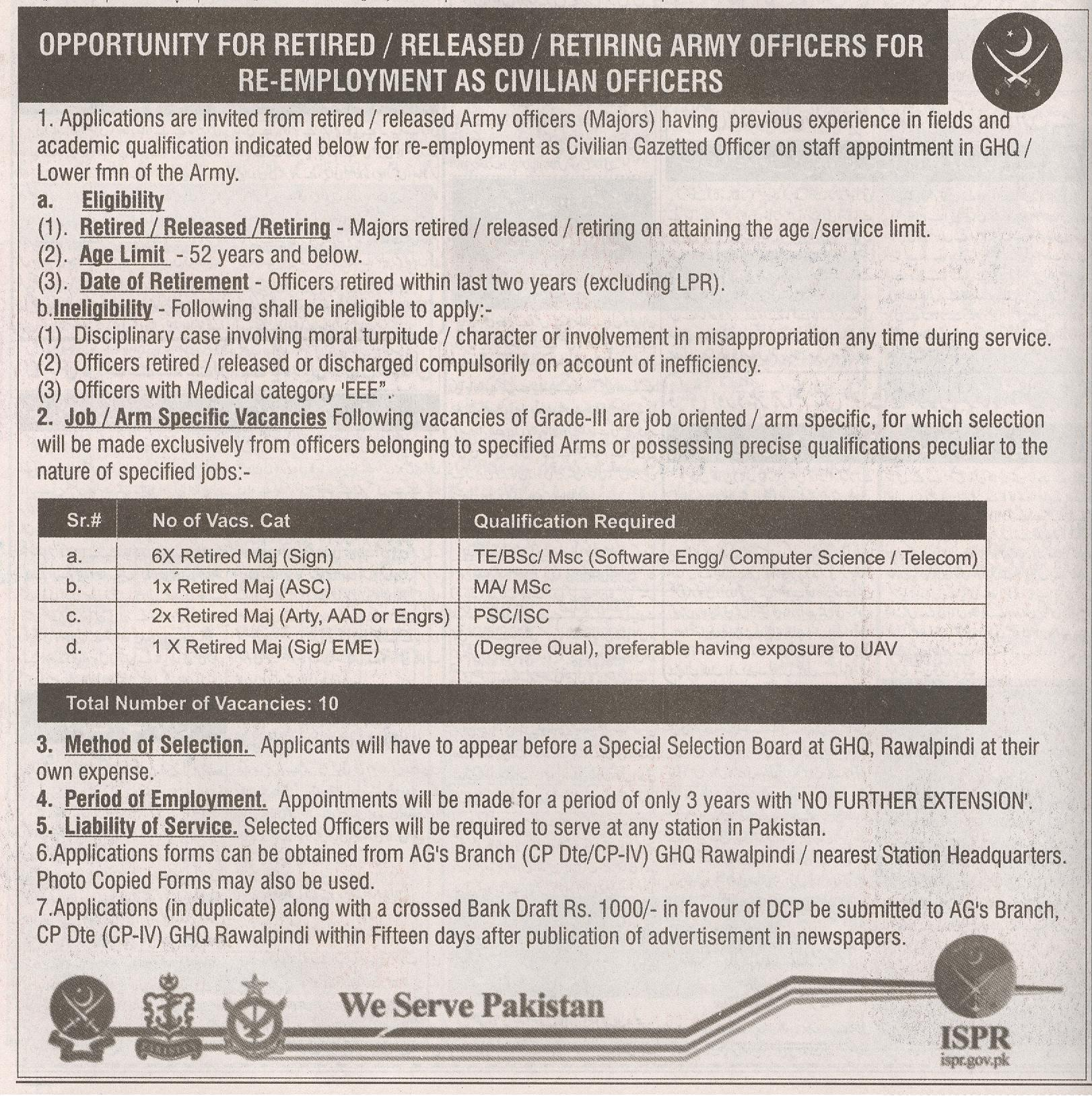 Opportunity Retired Army officer Jobs 2016