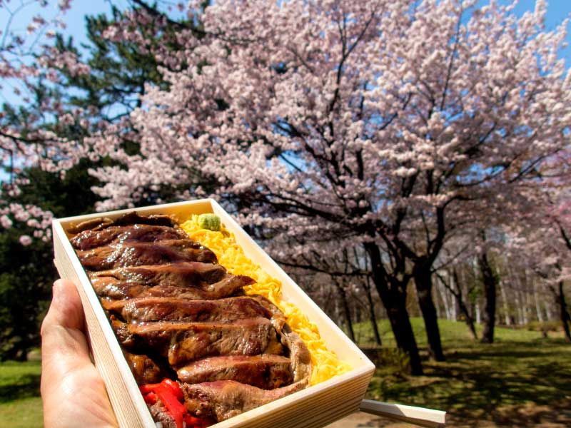 国産牛肉敷きステーキ弁当