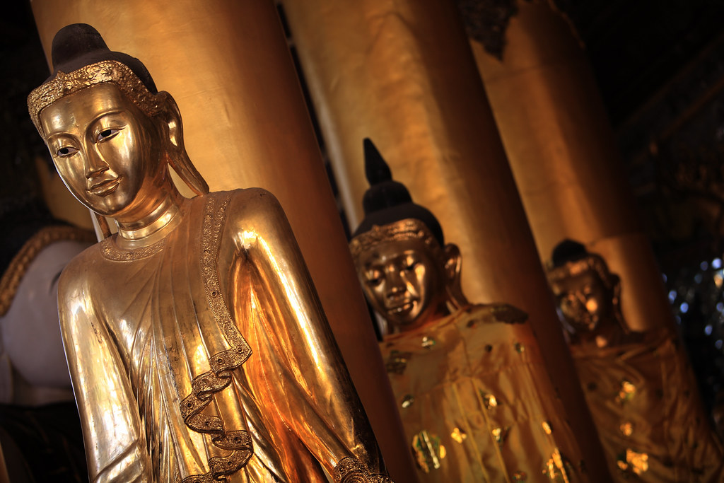 The Buddha At The Shwedagon Temple