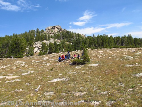 Resting in Stough Creek Pass, Wind River Range, Wyoming