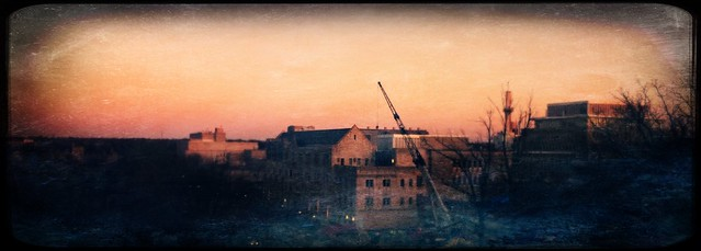 Construction Crane from Wells Library #iu #indianaskies #indianauniversity #iubloomington