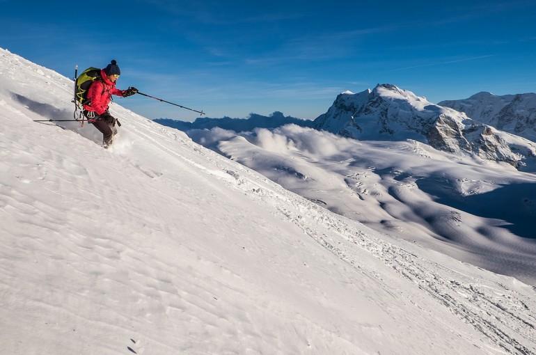 Strahlhorn a Rimpfischhorn – na skialpech a natěžko