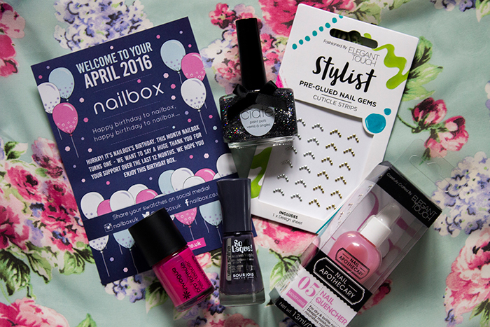 Nailbox April 2016: Ciate, Elegant Touch, Invogue and Bourjois
