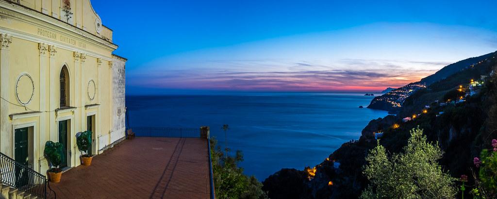 Sunset in Conca dei Marini, Amalfi, Italy picture