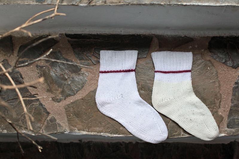 Tricotar meias com duas agulhas