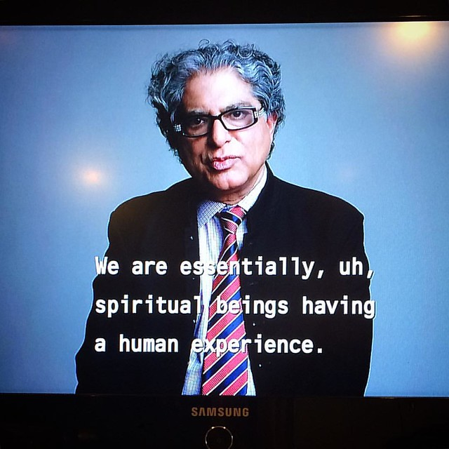 "Deepak Chopra on ""The Boomer List"". I like to watch documentaries while I paint."