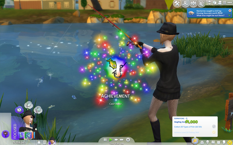 Sims 4 fishing locations bait angling ace tilapia for Sims 4 fishing