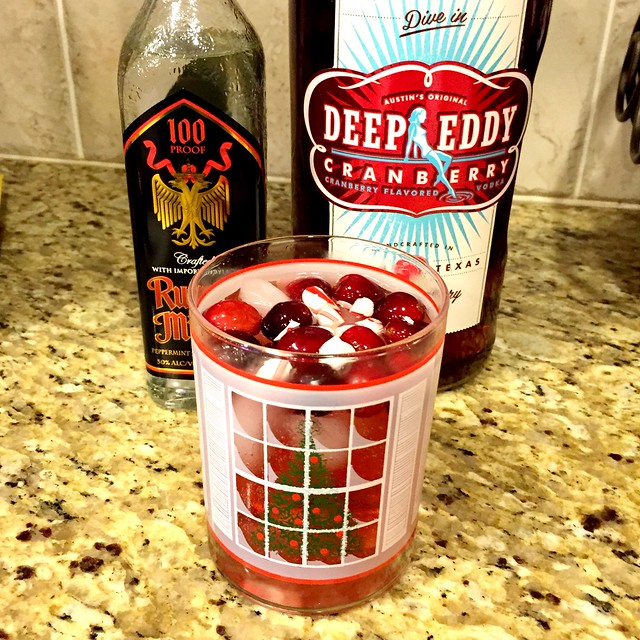 Peppermint Cranberry Spritzer