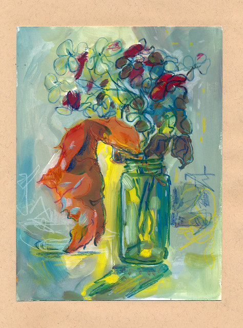 Sketchbook #93: Dry Hydrangea