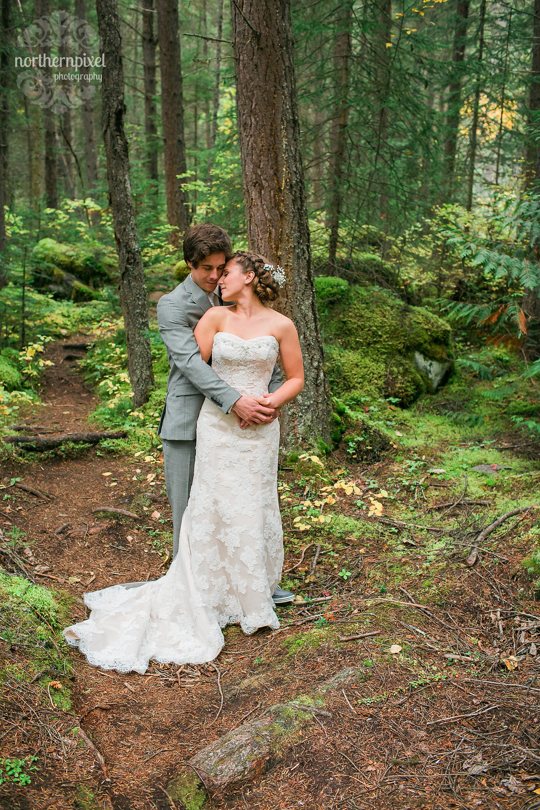 Mount Robson Wedding Photographers Mossy Forest