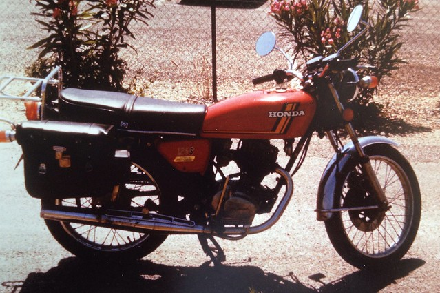 My Honda CB125J in Southern France