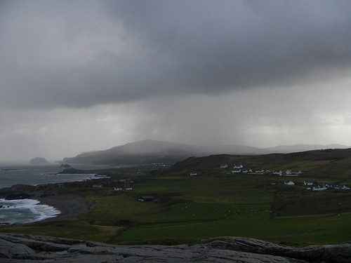 Storm brewing over Malin Head in Ireland