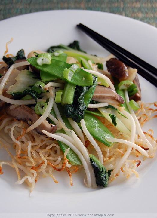 Cantonese Style Vegetable Chow Mein