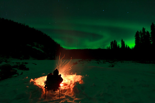 020716 - Campfire and the Aurora on the Salcha