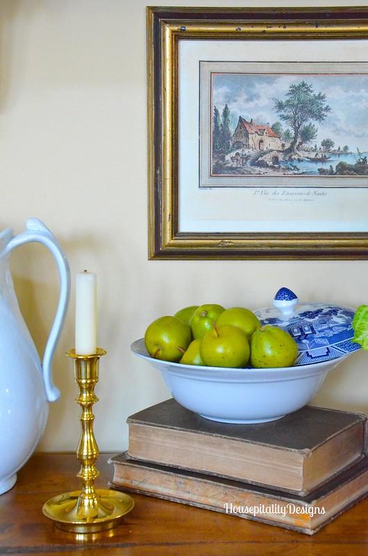Blue and White Vignette - Housepitality Designs