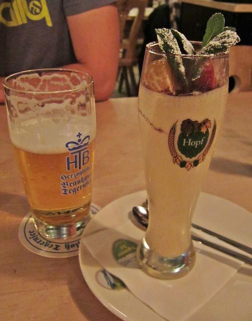 Goldengelchen-Winter in München-Tiramisu Weizenglas