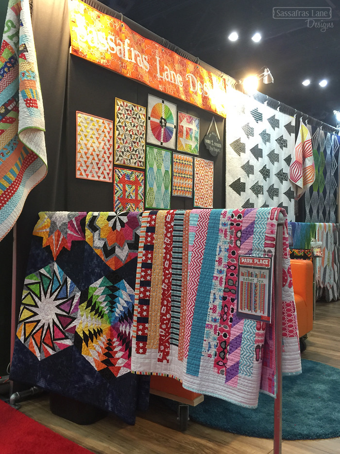 Sassafras Lane Designs booth at Quilt Market Fall 2015