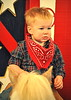 Reluctant cowpoke, Fort Worth Stock Show, Jan. 31, 2016