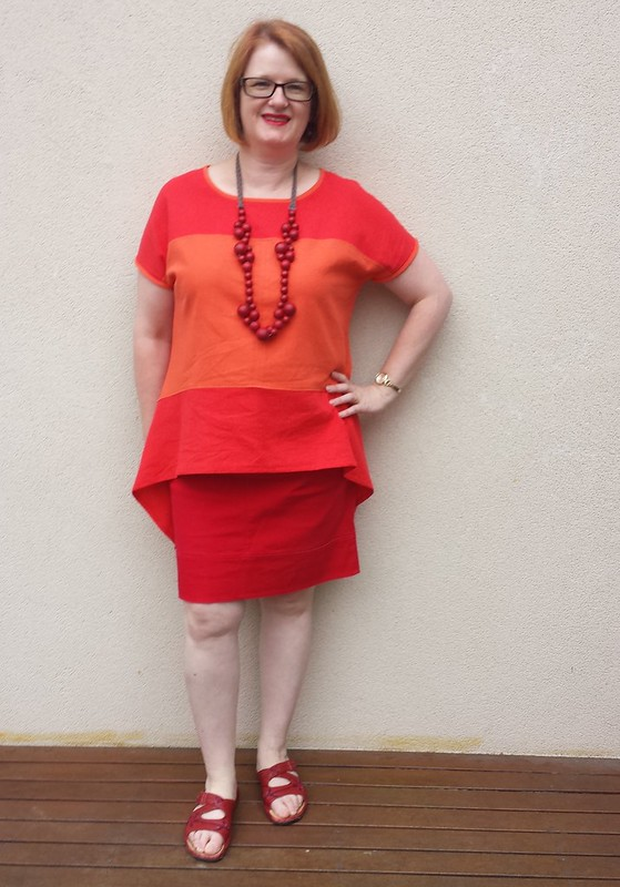 Style Arc Maris top in cotton linen from Darn Cheap Fabrics