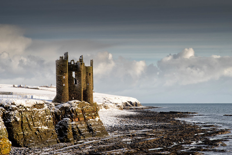 Snow and Sea, Keiss Castle, Caithness, Scotland