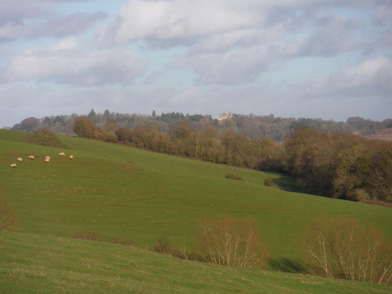 Waddesdon Manor, from Ashendon hillside SWC Walk 191 Haddenham Circular (via Brill)