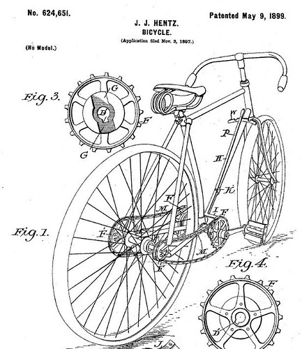 Hentz Patent bicycle shift system 1899