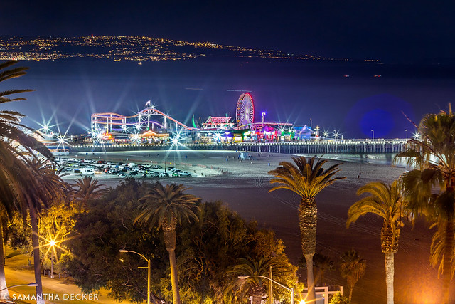 Santa Monica Pier at Night