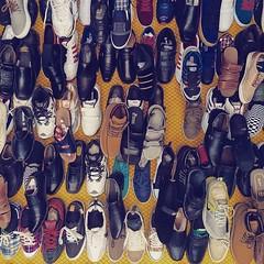 hanging shoes at G9 market