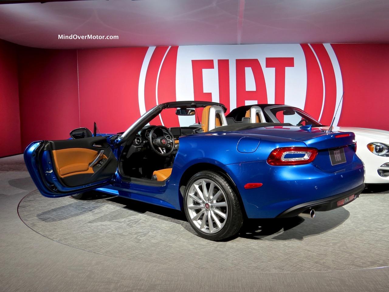 Fiat 124 Rear Blue