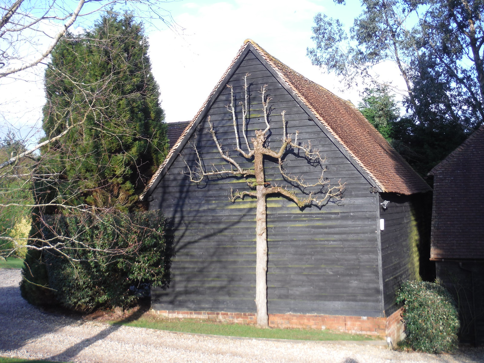 Barn at Wooten's SWC Walk 117 Aldermaston to Woolhampton (via Stanford Dingley)