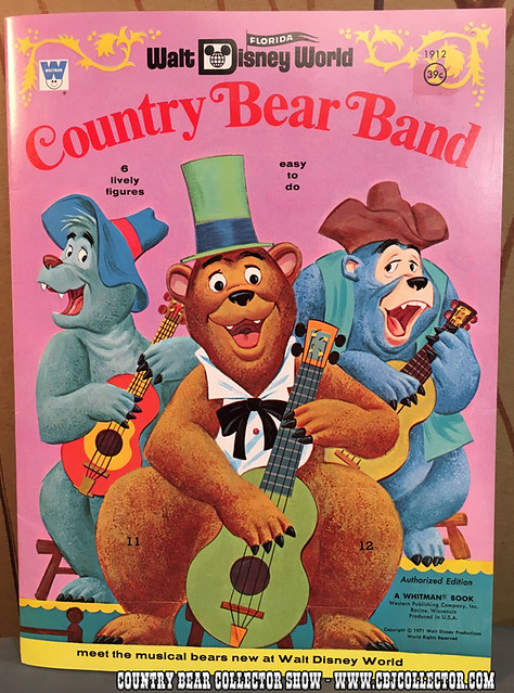 1971 Walt Disney World Country Bear Jamboree Paper Doll Book - Country Bear Collector Show #018