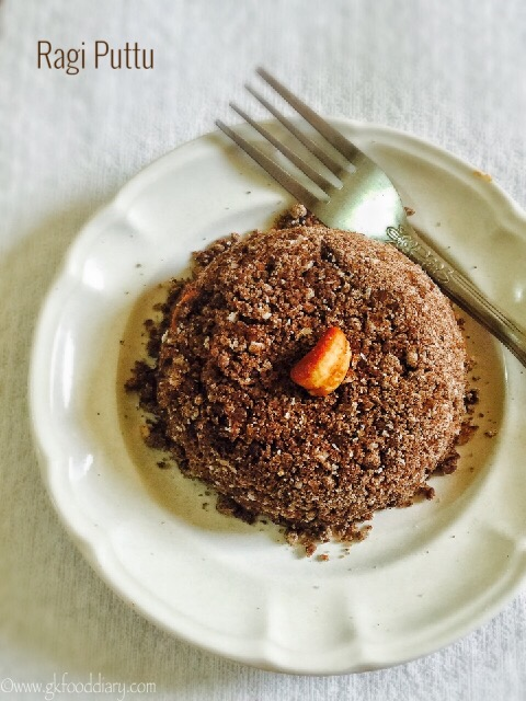 Ragi Puttu Recipe for Babies, Toddlers and Kids4