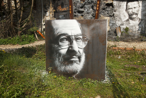 Umberto Eco, painted portrait  _DDC2716