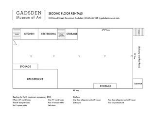 second floor layout | by Gadsden-Museum-of-Art
